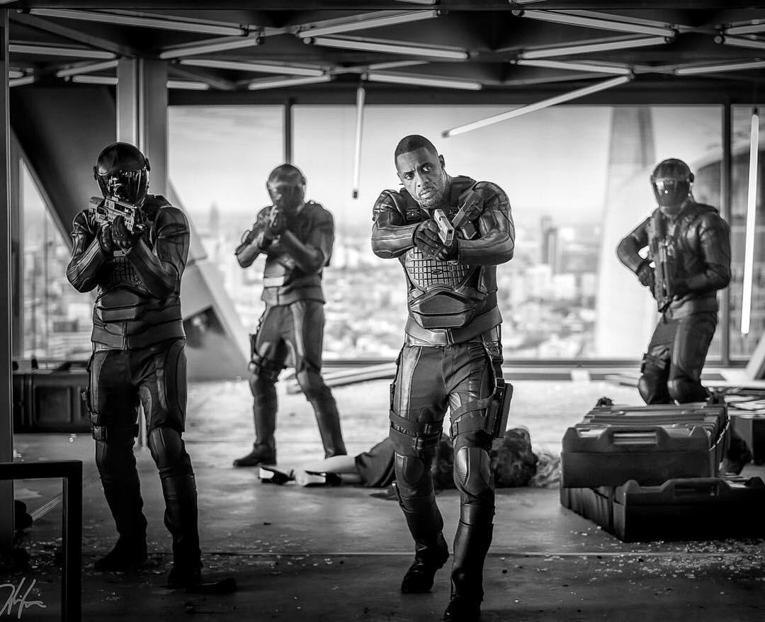 The Rock shares the first photo of Idris Elba&#39;s villain Brixton in the #FastandFurious spin-off #HobbsAndShaw<br>http://pic.twitter.com/dbesb8ixkt