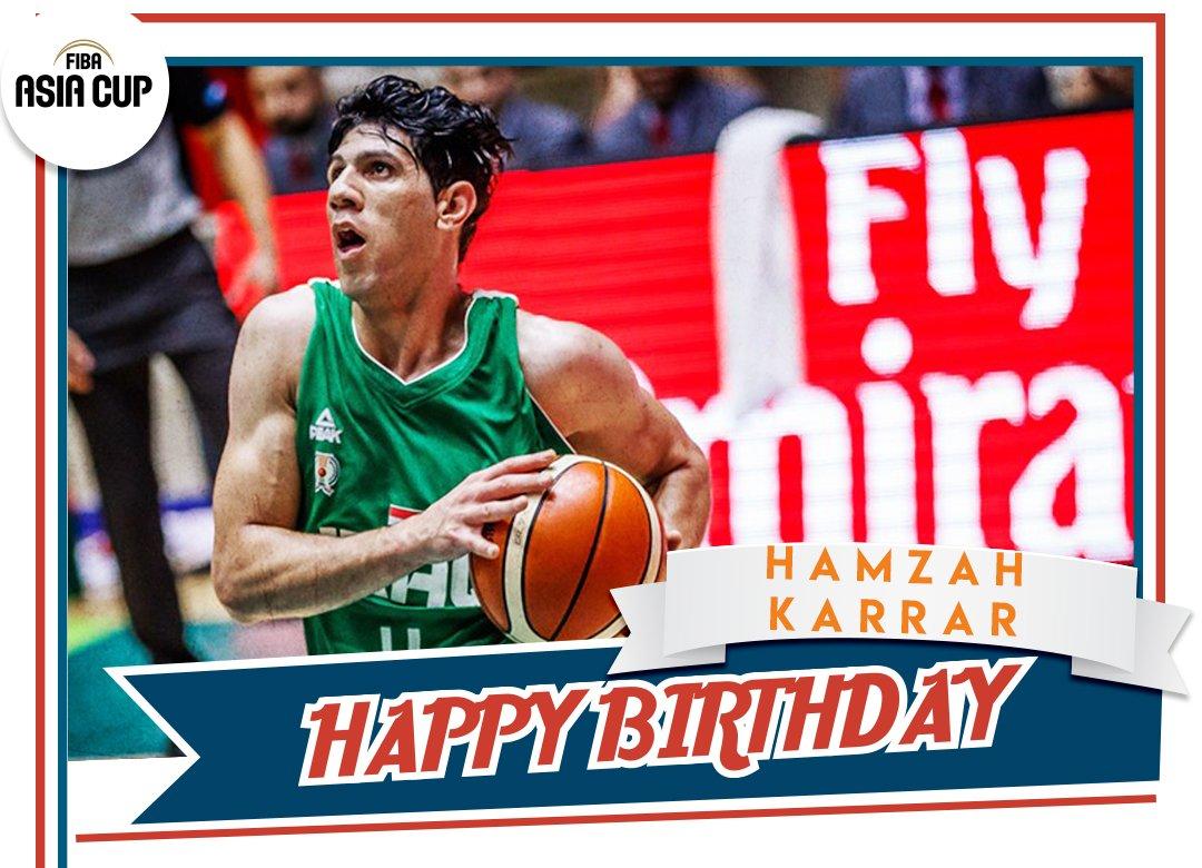عيد مولد سعيد @IraqiBasketballs Karrar Hamzah 🎂‼️ #FIBAAsiaCup #FriYay