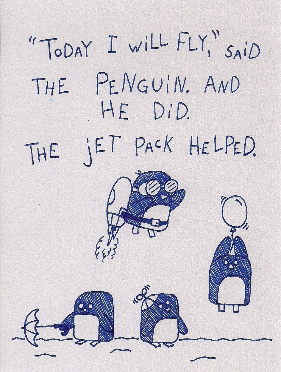 Sweet story about a penguin and a jet pack.. https://t.co/UTsfBRRFAG ���� https://t.co/As6IHrnt02