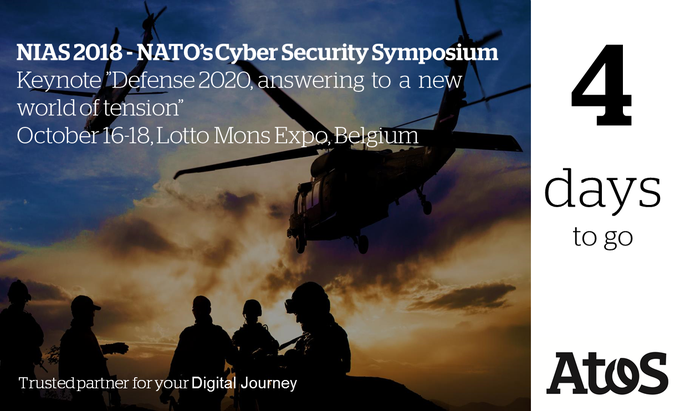Counting down, 4 days left! Join NIAS' 2018, NATO's annual cyber security symposium to...