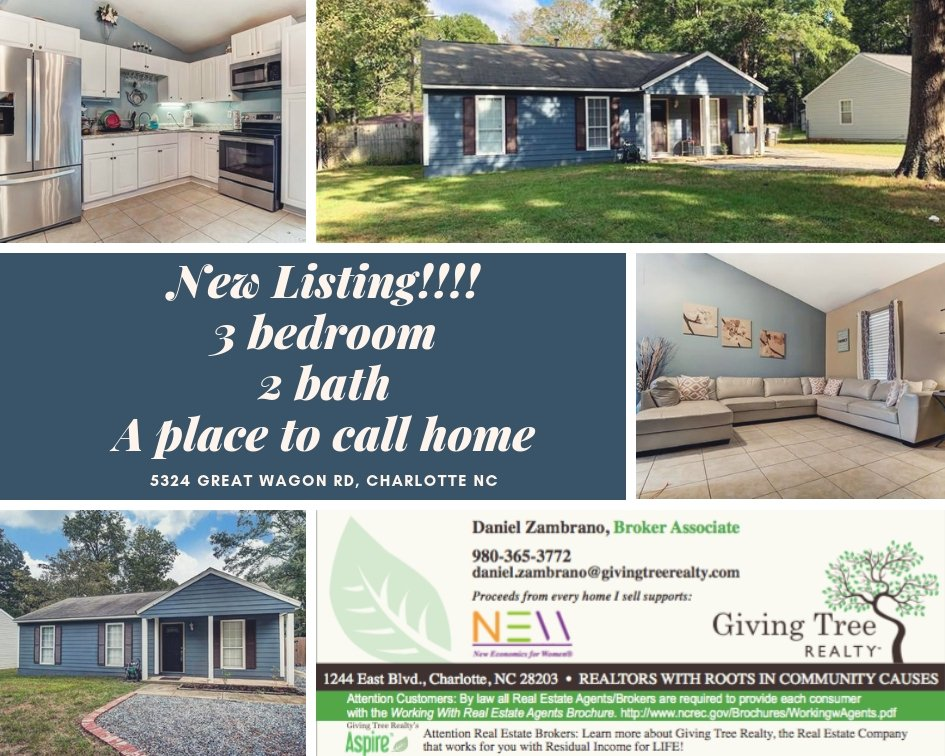 test Twitter Media - Call Daniel Zambrano today for a tour!! 980-365-3772 #nchomes #charlottehomes #charlotterealestate #givingtreerealty https://t.co/9kez7TrZrC