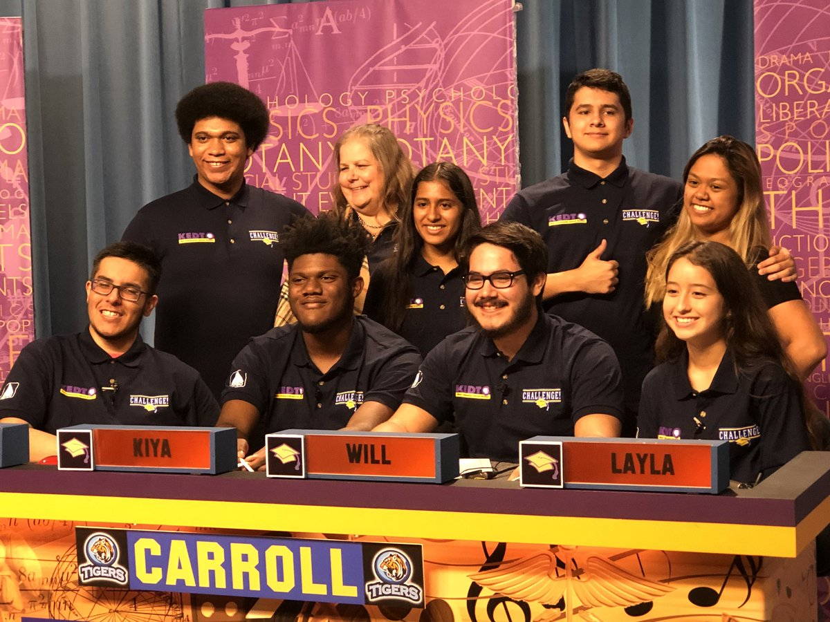 Shoutout to the Carroll Challenge Team!! Tune in to @YourKEDT on November 15, 7pm to watch these Tigers!! @CITGO- Thanks for supporting Challenge!!  #CARROLLTIGERS<br>http://pic.twitter.com/CNUa4XqEKe