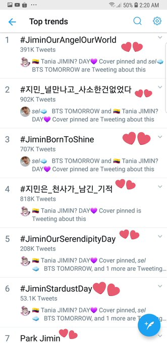 Kings of trending hashtags uwu #HAPPYJIMINDAY #JiminOurAngelOurWorld Photo