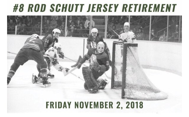 The @Sudbury_Wolves are sending Rod Schutt's #8 to the rafters on November 2nd when the Wolves host @ErieOtters. Schutt scored 72 goals for the Wolves in 1975-76, establishing a club record that will likely stand the test of time Photo
