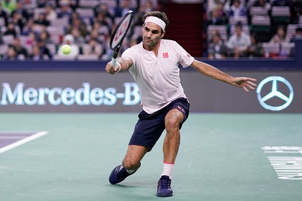 Roger Federer comesback from 1-4 in the tiebreak to beat Kei Nishikori 6-4, 7-6(4) and reach the SFs in Shanghai. <br>http://pic.twitter.com/dWsoOFit04