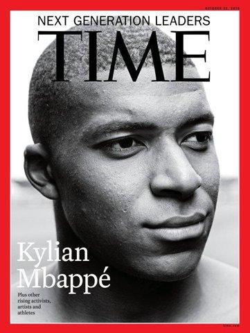 Bravo @KMbappe ! A seulement 19 ans, le footballeur, champion du monde 2018, est en couverture de @TIME magazine. Merci au joueur de #LesBleus d'incarner les valeurs du sport ! #soccer #WorldCup  - FestivalFocus