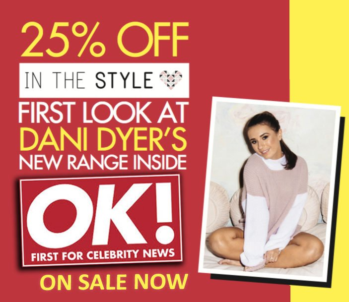 Grab yourself a copy of this week's @OK_Magazine to get 25% off @inthestyleUK clothing in celebration of @Dani_MasDyer 's new range https://t.co/jkE0VUDfy2