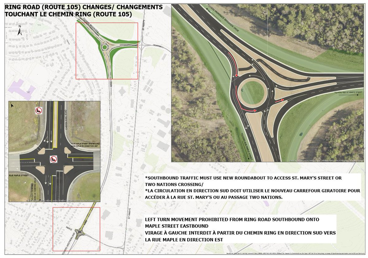 The Ring Road/Two Nations Roundabout will be opening soon. Following the opening of the roundabout, changes will also be made at the Ring Road / Maple intersection. Click here for information on both projects and details on changes you can expect to see.  http:// ow.ly/S15830mcUPW  &nbsp;  <br>http://pic.twitter.com/brqOQuC4HU