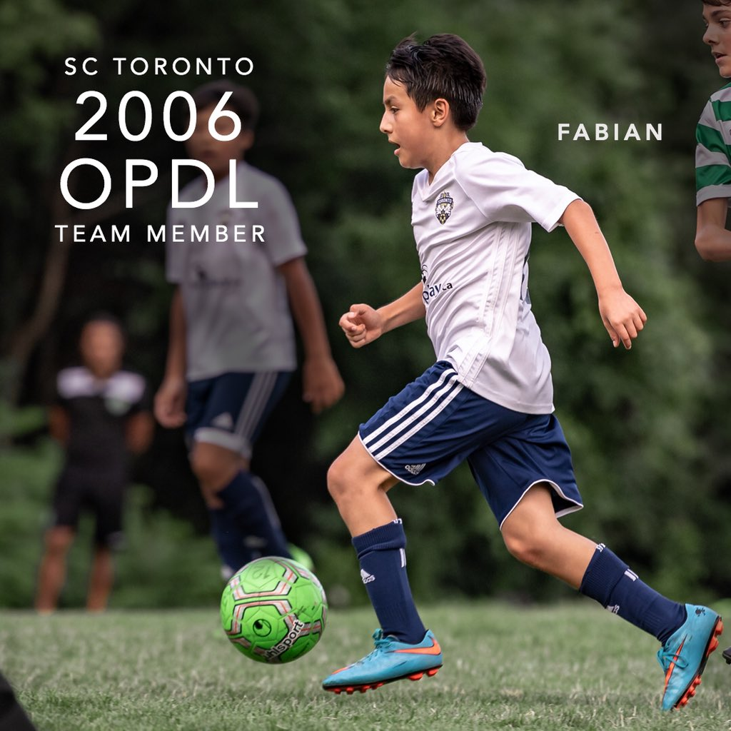 Congratulations Fabian for earning a spot on the 2006 SC Toronto OPDL Team #SupportLocalFootball #Toronto #2006Boys  #SCToronto #TorontoSoccer #SoccerInTheSix #OPDL #OntarioSoccer #PlayInspireUnite #Football #Soccer #Canada2026 #TheBeautifulGame  Tryouts ongoing. DM for details.