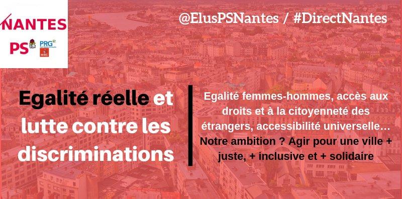 #Nantes agit pour faire progresser l'égalité réelle et lutter contre toutes les formes de discriminations. 3 rapports présentés aujourd\