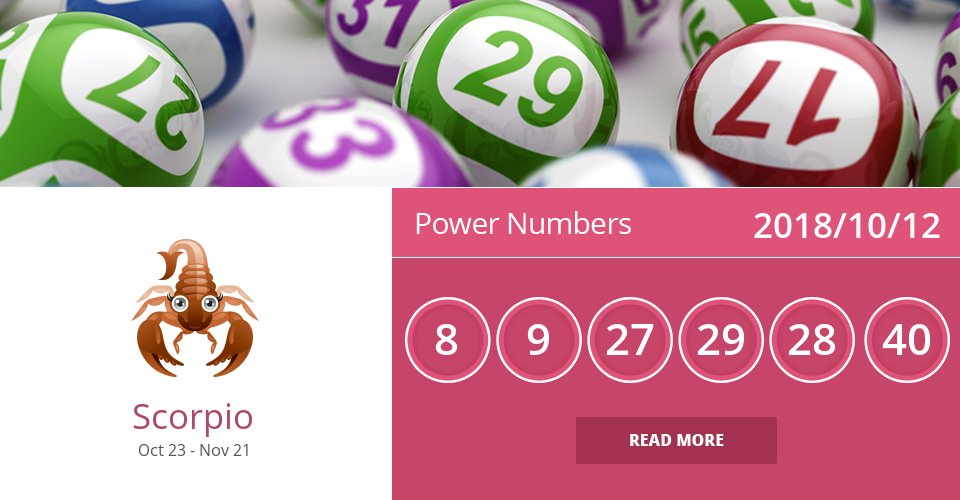 Oct 12, 2018: Power Numbers => See more: https://t.co/bzBmJmx0I5 Accurate? Like = Yes #Scorpio #Horoscope https://t.co/eJveLR4Dgf