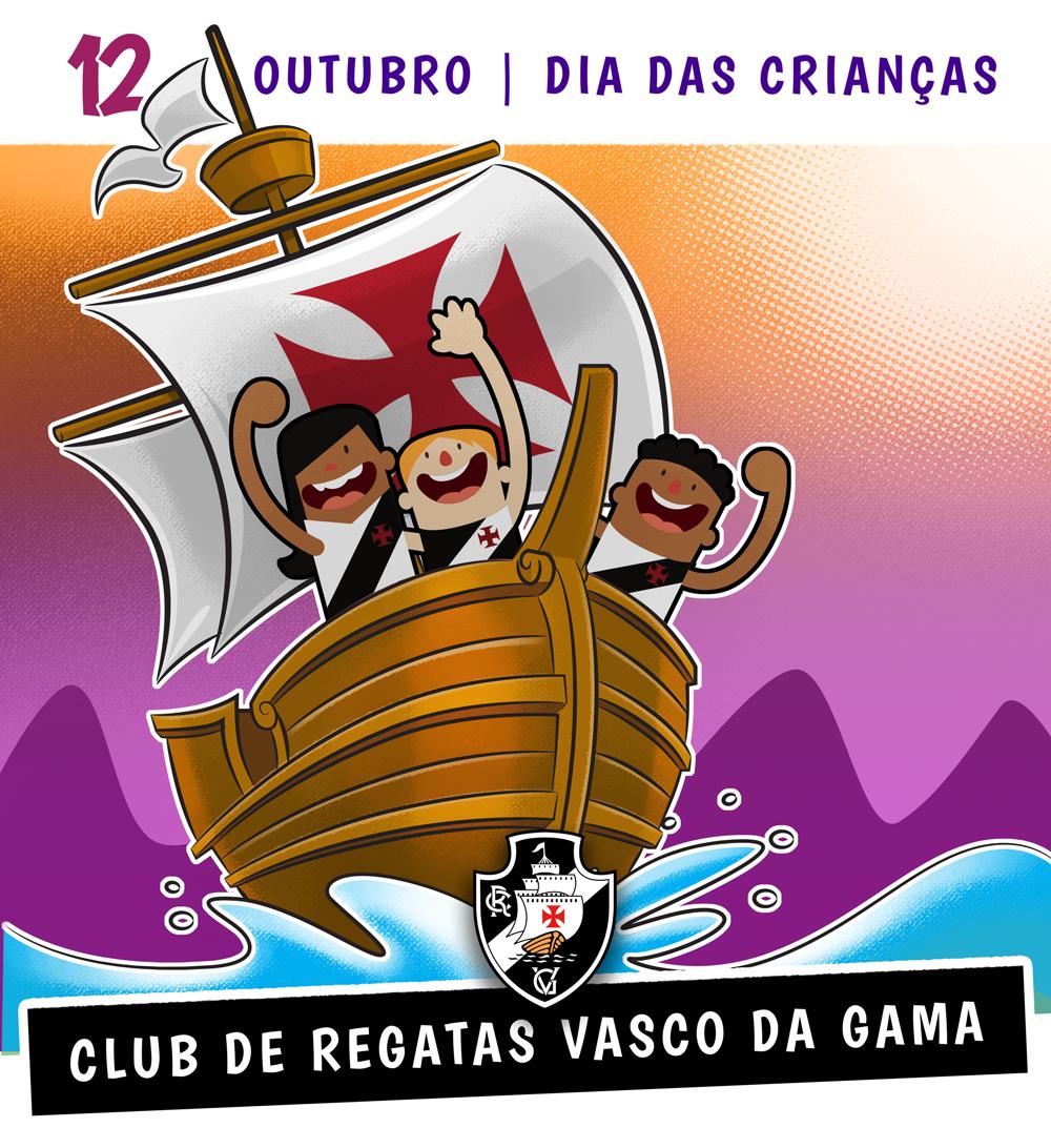 'Enquanto houver um coração infantil, o Vasco será imortal' - Cyro Aranha  O Club de Regatas Vasco da Gama deseja para todos os Almirantinhos um feliz #DiaDasCrianças !