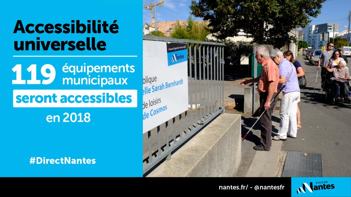 #DirectNantes #Accessibilité Nantes s'engage, via son agenda d\