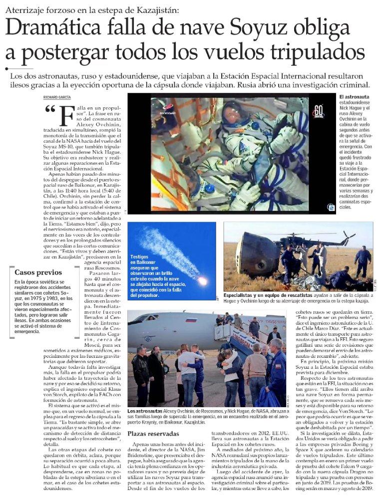 VCT El Mercurio's photo on #Soyuz