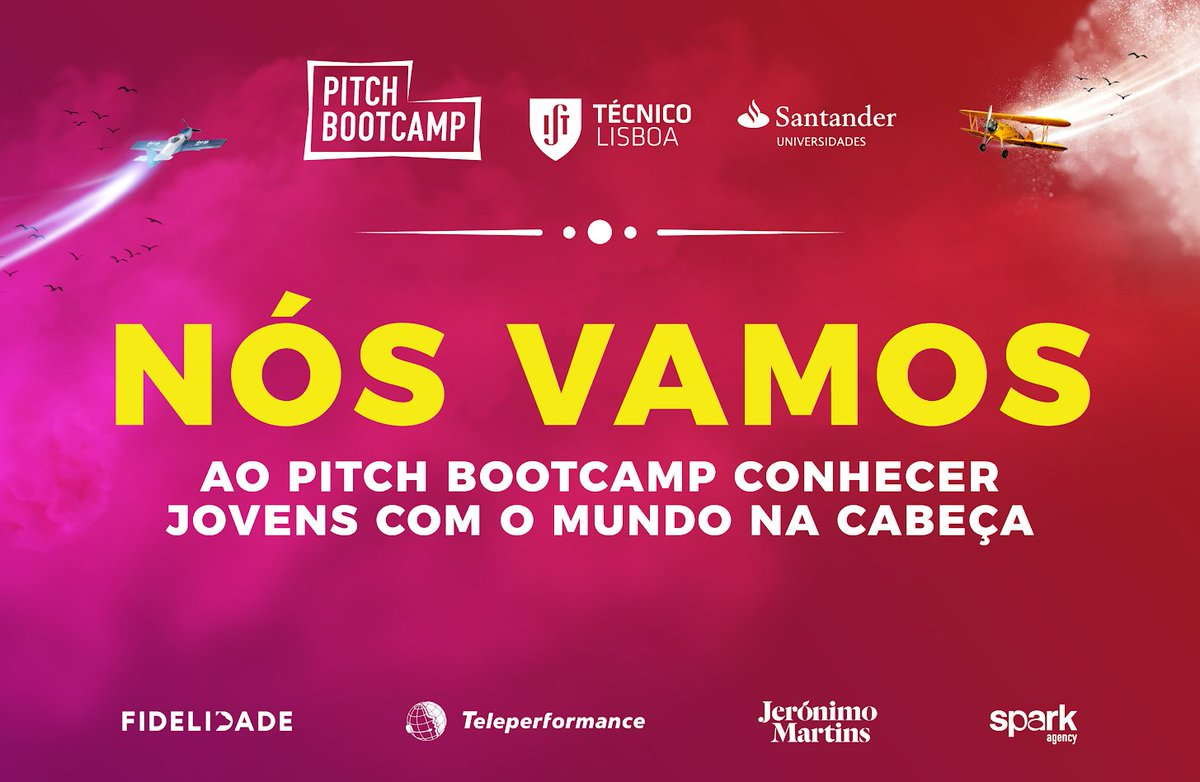 Come meet our Founder and CEO, Daniel Vila Boa, at the Pitch Bootcamp. Saturday morning, 13 October 2018! #chilltime #pitchbootcamp #institutosuperiortecnico https://t.co/LhfDTWcXwN
