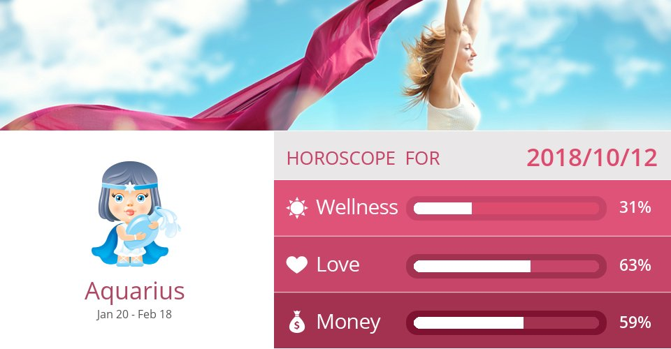 Oct 12, 2018: Wellness, Love & Money => See more: https://t.co/mFGmWTNzgG Accurate? Like = Yes #Aquarius #Horoscope https://t.co/4aHZD2APKy