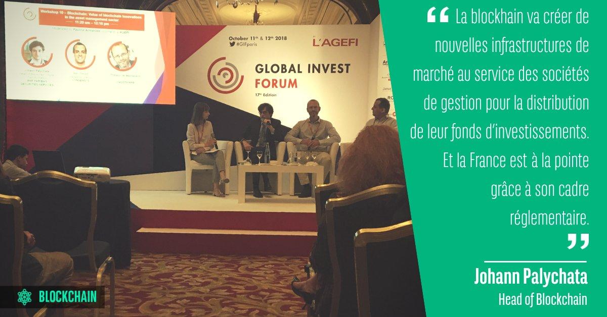 Lors du #GIFparis, @yoyplex, expert #blockchain, nous a donné son point de vue sur les apports de cette technologie dans la gestion d'actifs.  - FestivalFocus