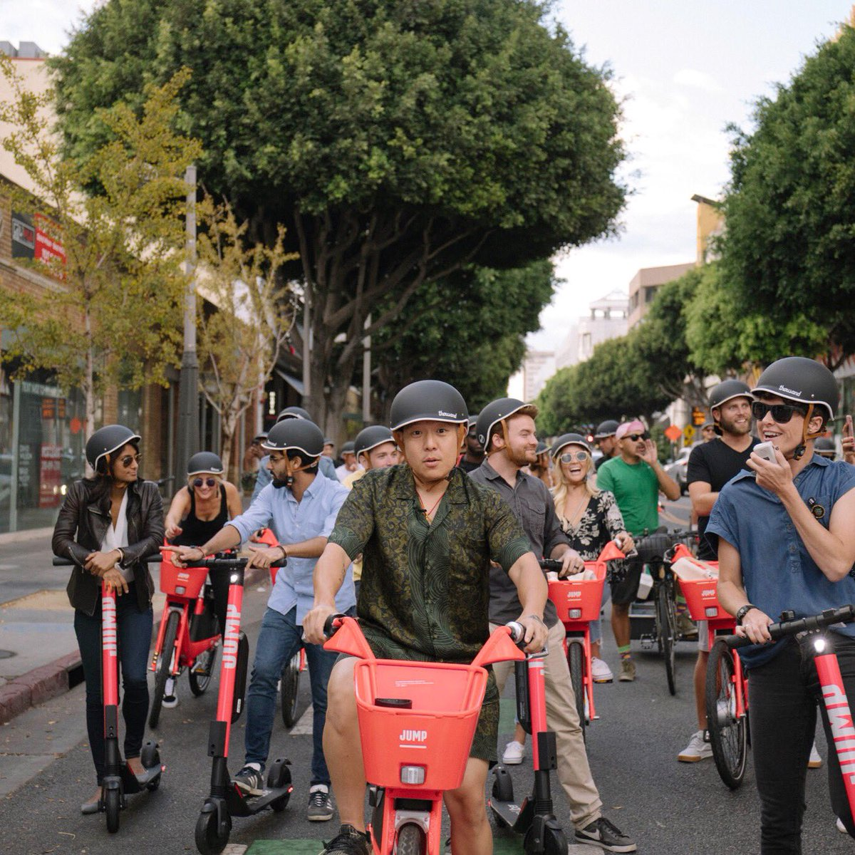 Thousand Explorethousand Twitter Group Shop Cheap From China Suppliers At Alwaysbetter On A Ride Through Santa Monica To Celebrate Jump Rides Scooter Launch Next Time You Hop Bike Or Dont Forget Your