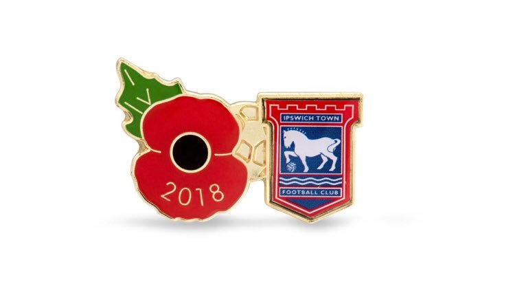 #itfc are delighted that we will have branded poppy lapel pins available to buy from @ITFC_PlanetBlue from October 27.   Our remembrance fixture will be on November 3 against @pnefc where the Royal British Legion will host a collection and the #itfc pins will be available too.<br>http://pic.twitter.com/1tlAp65DBx