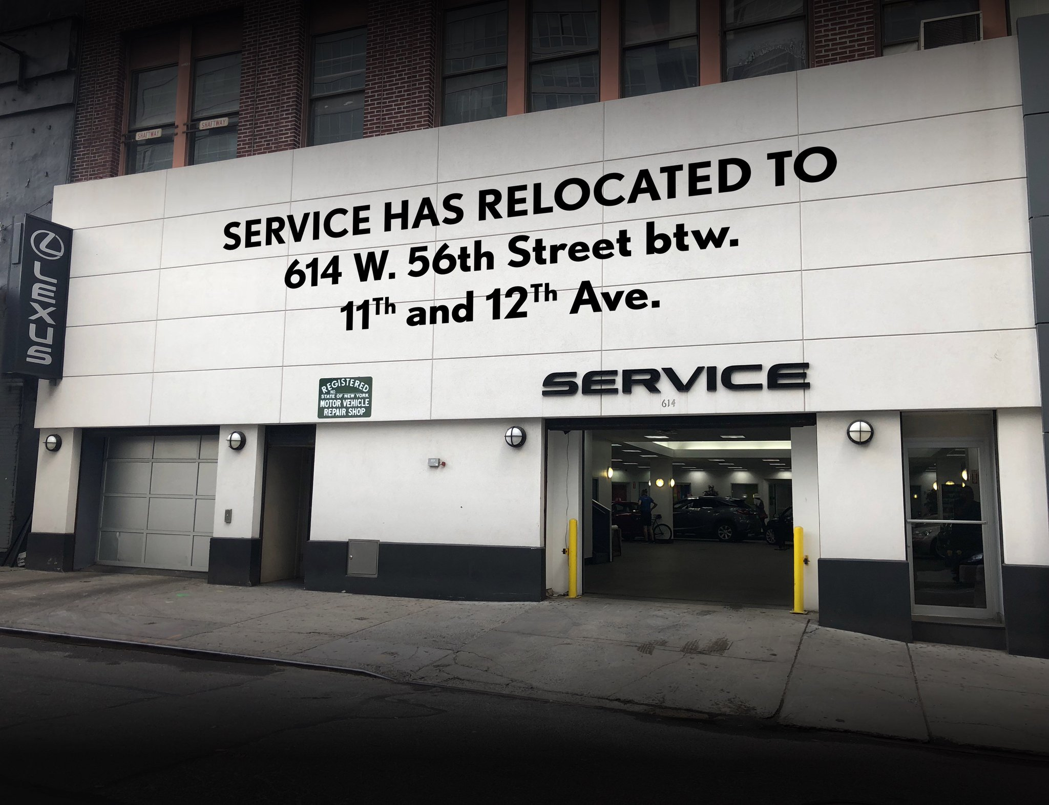 lexus of manhattan on twitter our service department is now located at 614 west 56th street btw 11th and 12th avenues reach us at 877 385 8761 to schedule an appointment today https t co kjjhetabxp lexus of manhattan on twitter our