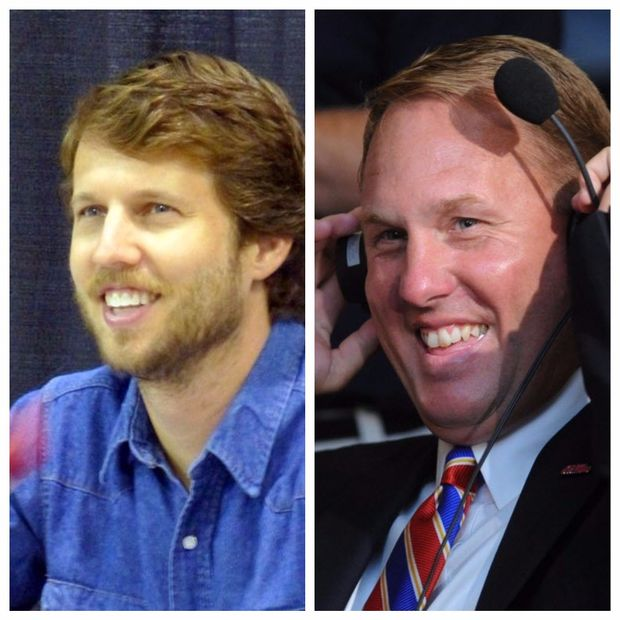 I stole these off a website but:  Jon Heder for Hugh Freeze. <br>http://pic.twitter.com/gPd7q9Y5U1