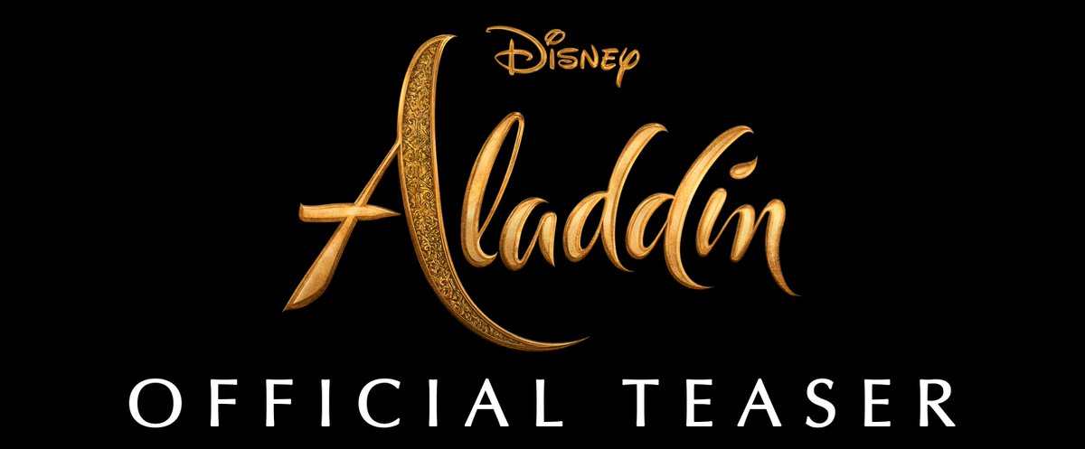 Watch the new teaser-trailer for @DisneyAladdin. In theaters May 24, 2019. #Aladdin