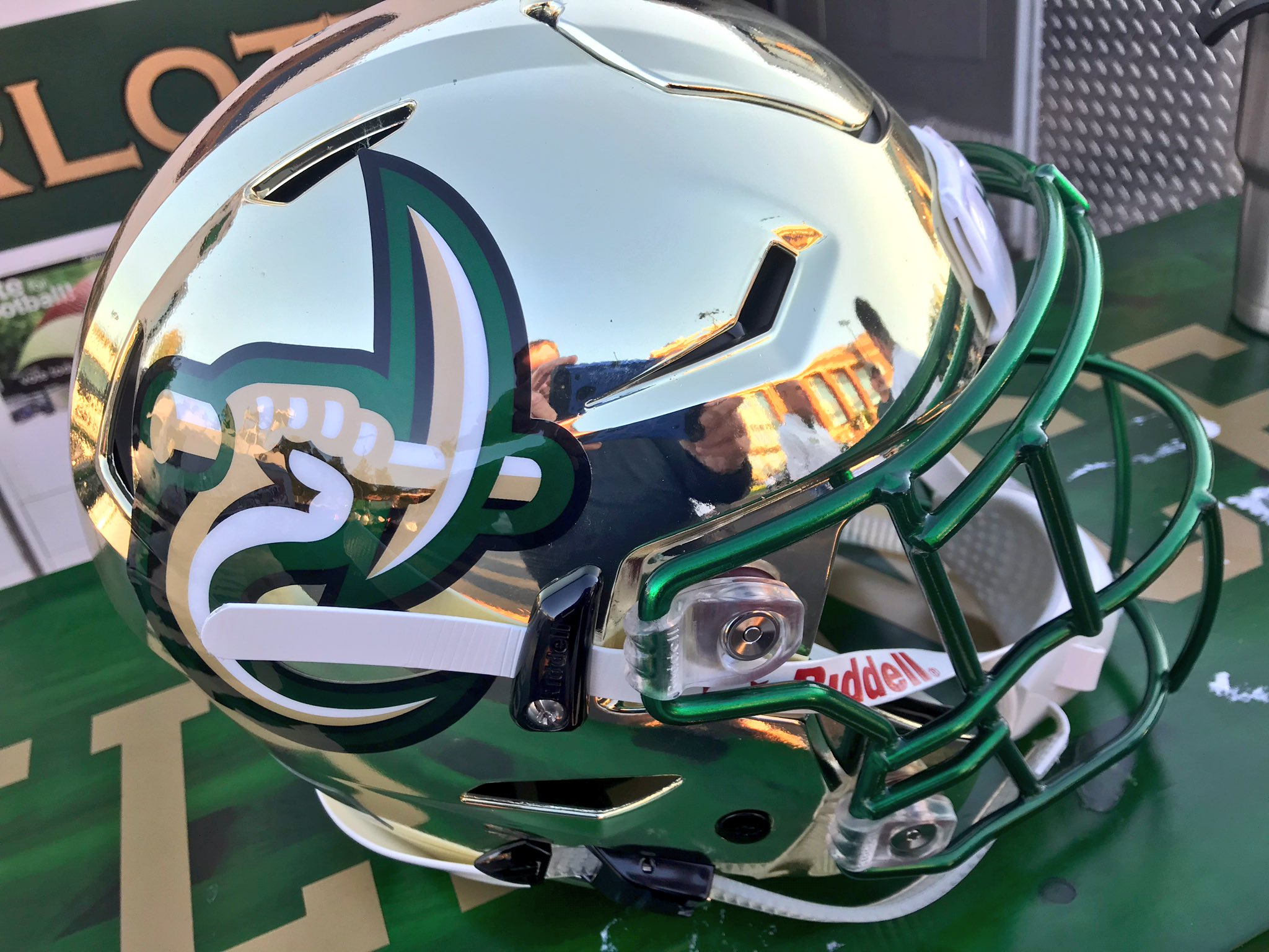 check out 53d6a c7ca3 Gold Helmets for homecoming - Charlotte 49er Football ...
