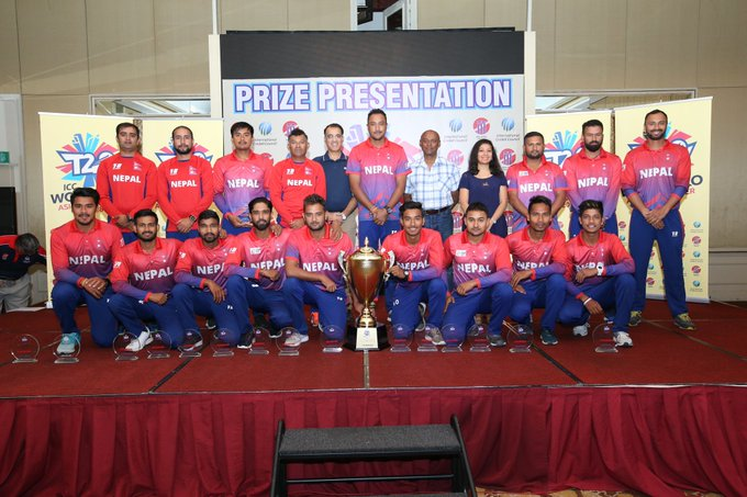 Congratulations to the champions of the #WT20 Asia B Qualifier, Nepal! 🇳🇵🏆 Photo