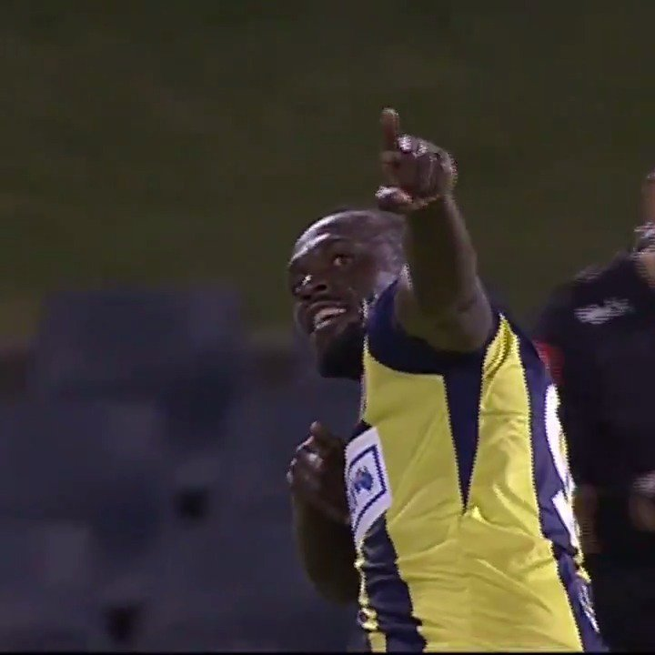 Usain Bolt sprinting his way to his first goal ⚽️ https://t.co/OF6ZjfaxYL
