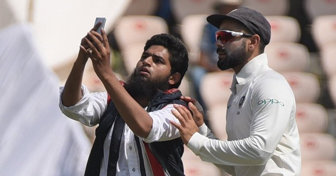 #INDvWI Selfie with @imVkohli: Case filed against fan Details: Photo