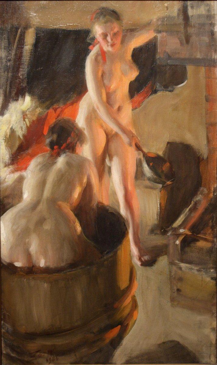 картины пышных женщин в бане полагает, что