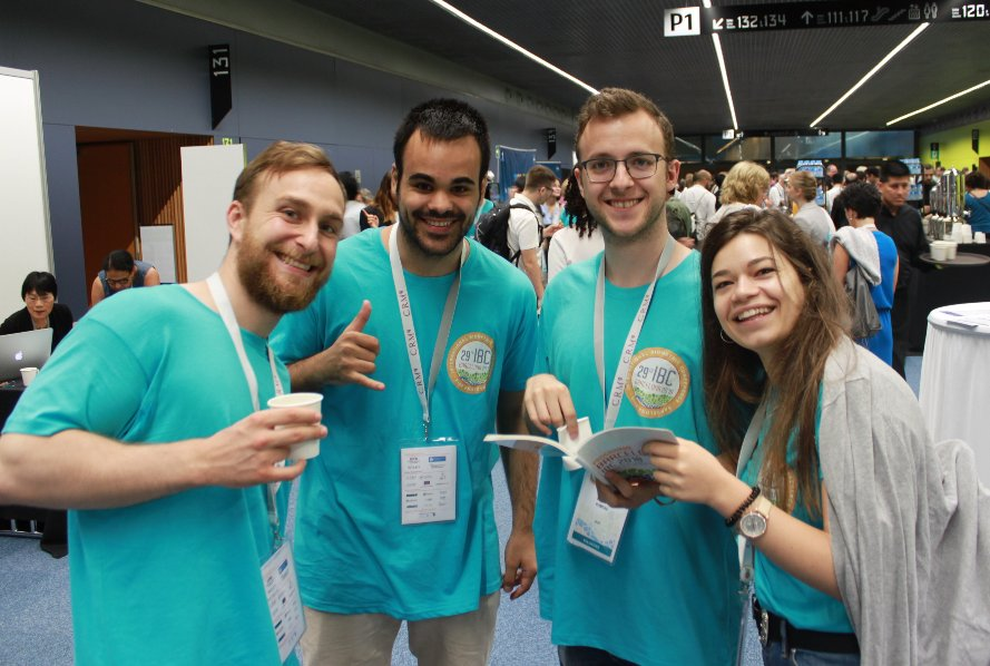 Flashback Friday - Missing Barcelona today and remembering IBC2018. We wanted to give a special shoutout to our #IBC2018 volunteers! Pictured here are just a few of our very hard working volunteers. @YSIBC2018 #IBC2018BCN #flashbackfriday #volunteer<br>http://pic.twitter.com/styJK4eGLg