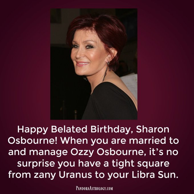 Happy Belated Birthday, Sharon Osbourne!
