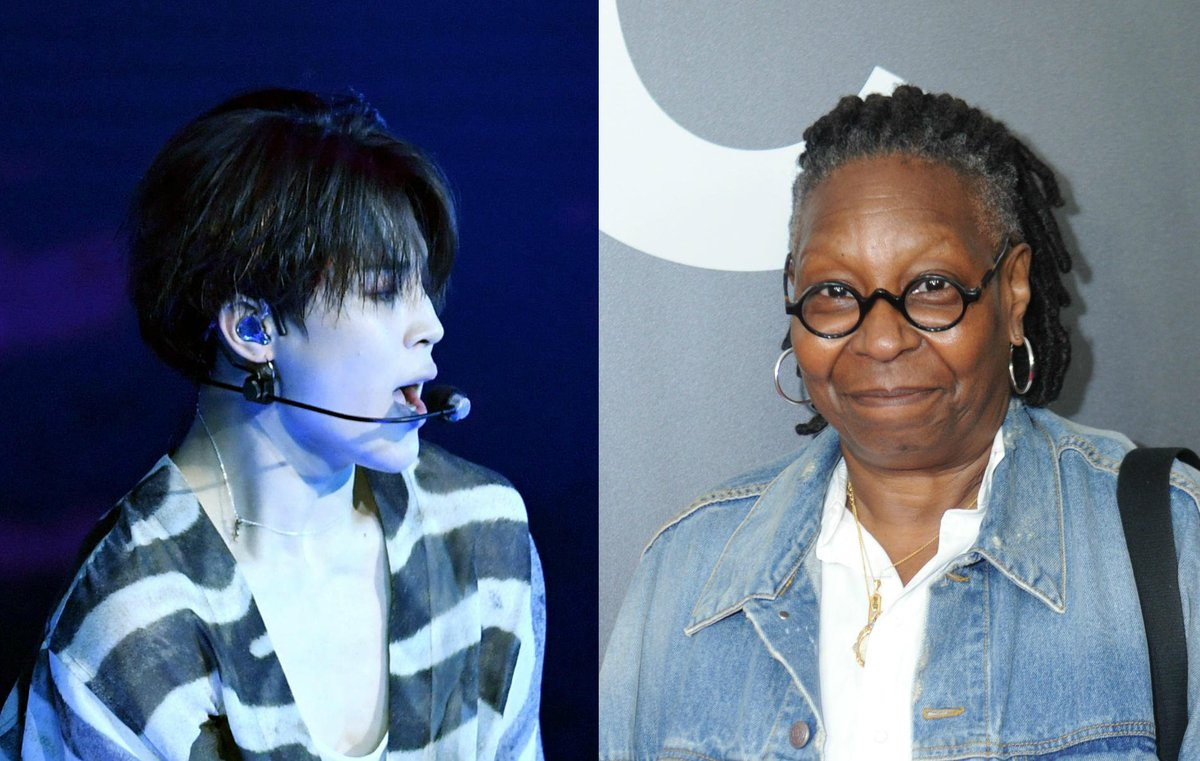 .@WhoopiGoldberg gives @BTS_twt the shirt off her back for 'bringing joy' https://t.co/I55IMujEST