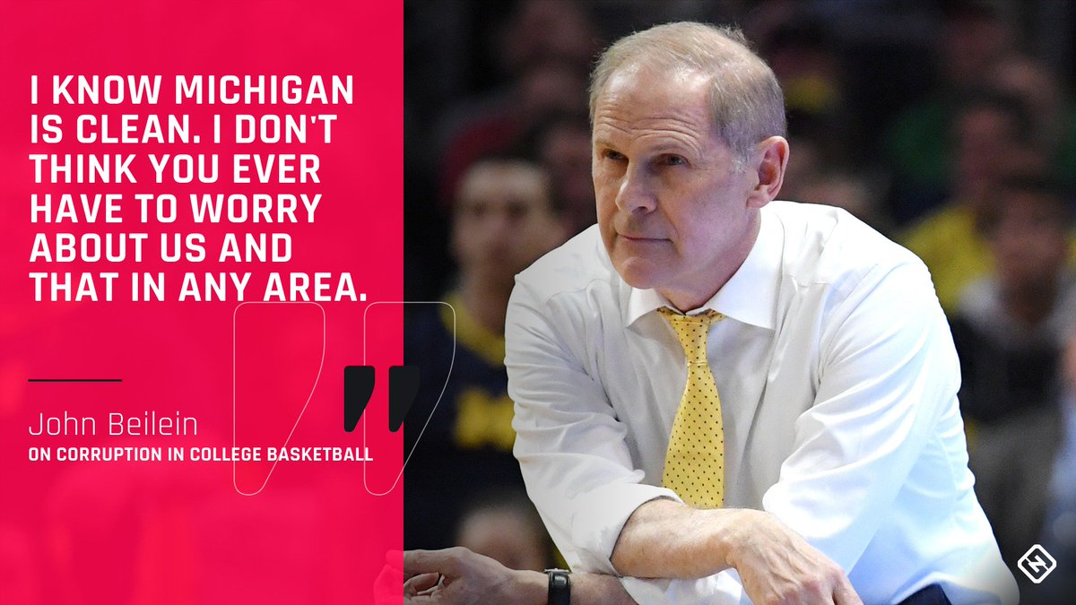 Amid an FBI investigation into college basketball&#39;s corruption, Michigan&#39;s John Beilein maintains he runs a clean program, and that winning is possible without cheating.  From @tsnmike:  http:// readsn.com/2ITGr8u  &nbsp;  <br>http://pic.twitter.com/0GkwjbdwXb