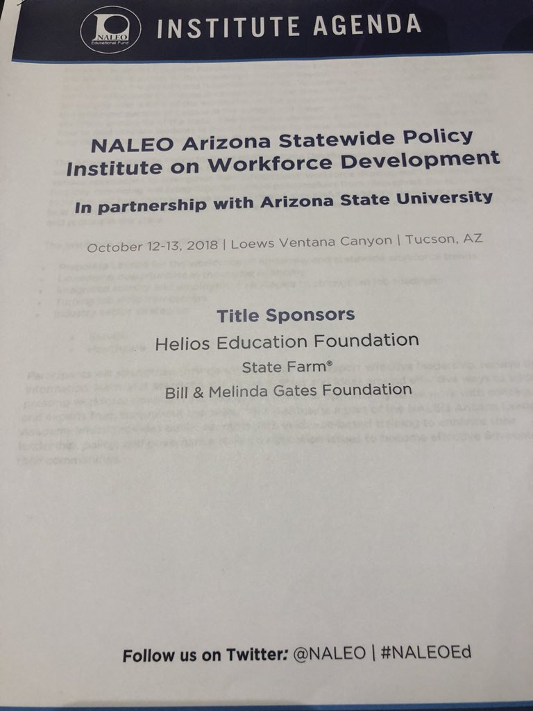 Helios Is Proud To Support Naleo Naleoed Policy Insute On Workforce Development In Tucson Helping Latino Policymakers Strengthen Their Understanding