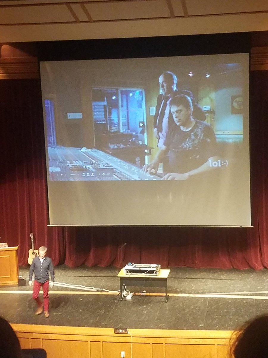 #wearewayne tech guru @robbiegrimes is a rock star...both in edtech and in the recording studio! What a great message about communication and digital citizenship at #ICEIndiana. <br>http://pic.twitter.com/U22rOqtAZU