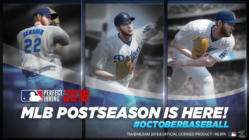 Ready. Set. Pitch!   Join the Postseason action with @ClaytonKersh22 and the rest of the MLB in @MLB_PI!   #ReadySetPitch #OctoberBaseball @MLB @Gamevil #ad  Download MLB Perfect Inning 2018 now! Google Play: https://t.co/6kOEuOzS5C App Store: https://t.co/Gh079Nm12F https://t.co/mddRhsRfaw