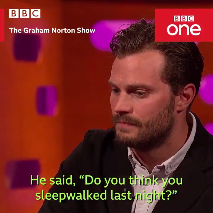 That time Jamie Dornan slept walked... and left a little present in the bath. �� #TheGNShow https://t.co/xR3MYbBmTX