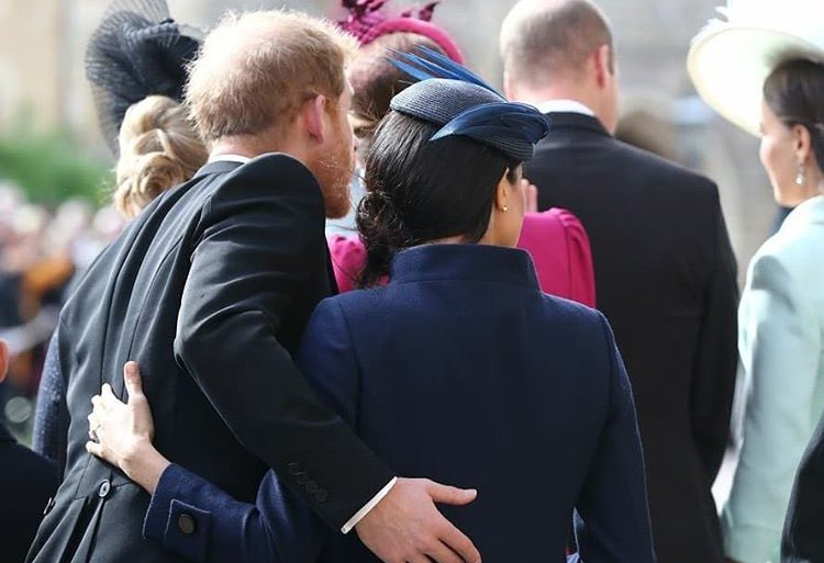 5 months later—back as a married couple, looking cute as ever. ♥️ (Sidenote: Princess Eugenie looked beautiful.)