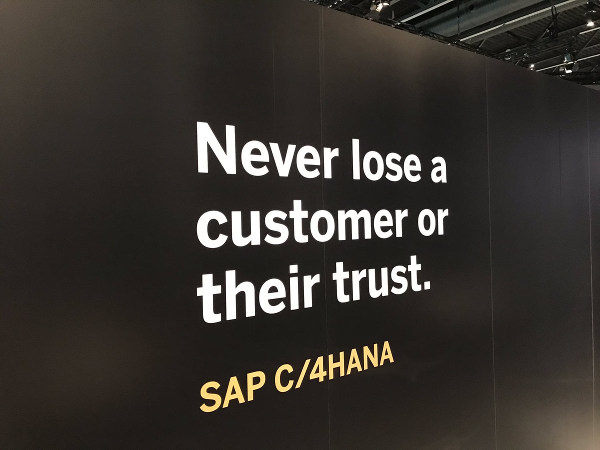 @SAP_CX never lose a #customer or their #trust #SAPCXLive #C4HANA<br>http://pic.twitter.com/1HoPyzDfvM