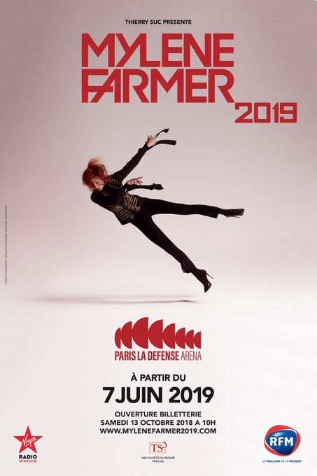 🎟 Ouverture en exclusivité de la billeterie pour les 6 concerts de Mylène Farmer à @ParisLaDefArena, demain à 10h uniquement sur : soyez tous présents ! #Désobéissance #MylèneFarmer Photo