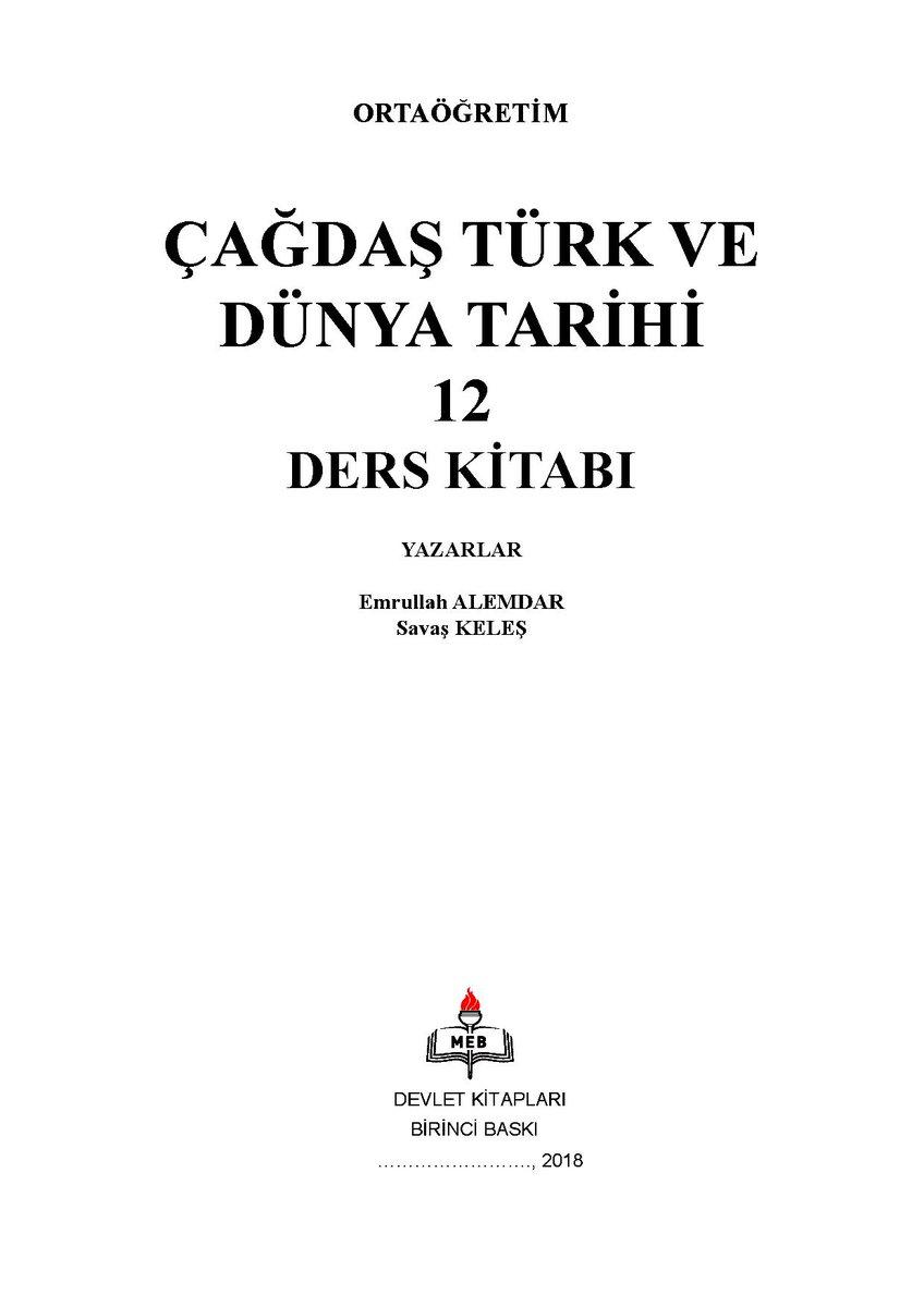Turhan Feyizoğlu On Twitter Ortaöğretim 12 Sınıf çağdaş Türk Ve