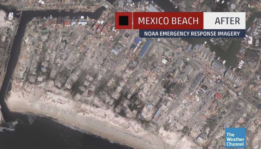The before and after pictures of Mexico Beach......I don't even know the words to describe such loss.