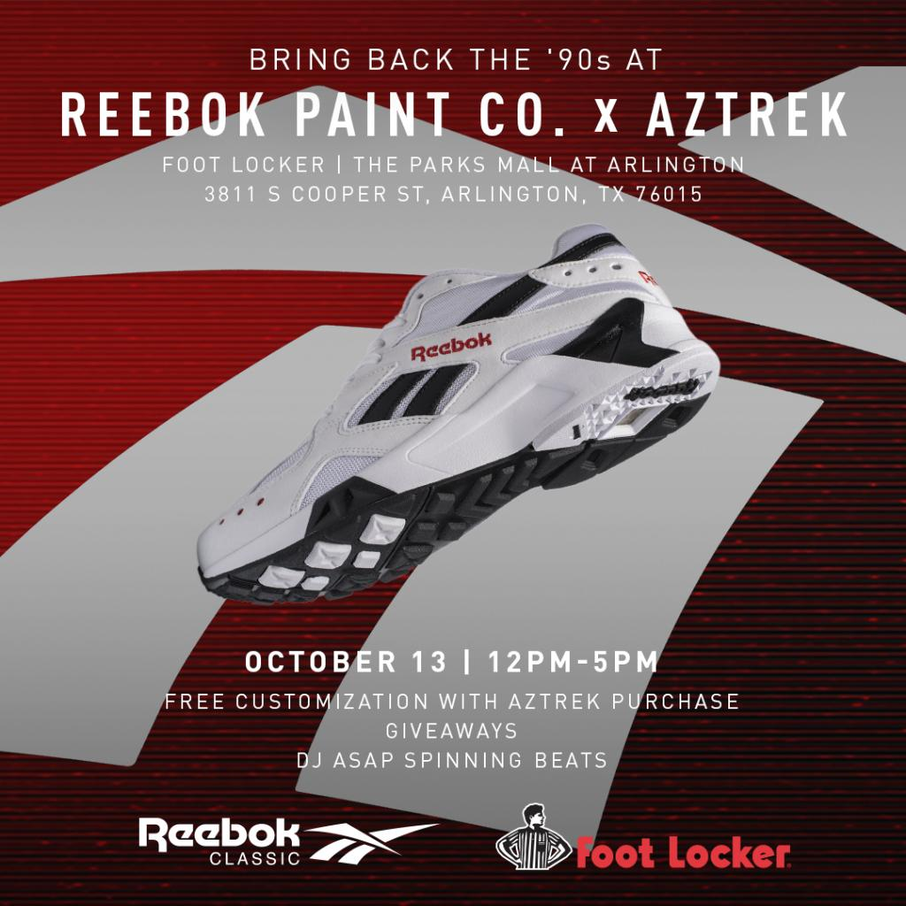 dallas come celebrate the launch of the reebok aztrek with customization  and giveaways tomorrow 10 13 a233a041b