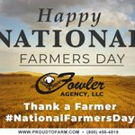 Image for the Tweet beginning: Happy National Farmer's Day! Make