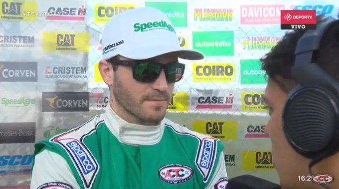 🎙@AgustinCanapino, el actual campeón, fue 4°: Estoy muy contento con el auto, pero sabemos que Ford es superior. #TCenToay Foto