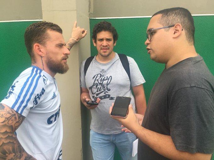 Domingo vamos publicar no L! uma entrevista com Lucas Lima. Ele falou sobre os motivos para a boa fase, sua adaptação ao clube, lembrou de quando teve que caçar o Palmeiras no prestigiem! Foto
