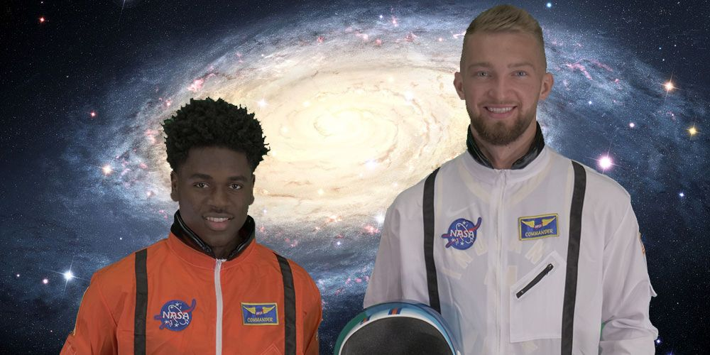 With @FirstManMovie hitting theaters today, we wanted to offer @RyanGosling some extra crew members for his mission. @The_4th_Holiday and @Dsabonis11 are ready to take flight. 🚀 #IndianaSpacers