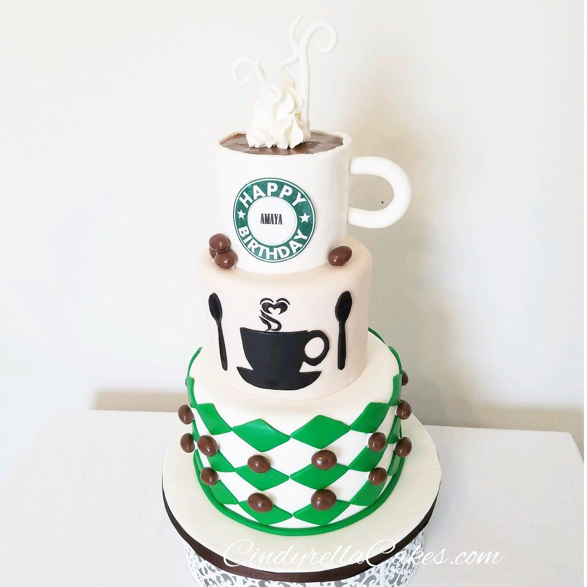 Brilliant Cindyrella Cakes Pa Twitter Fbf Starbucks Theme Birthday Cake Funny Birthday Cards Online Fluifree Goldxyz